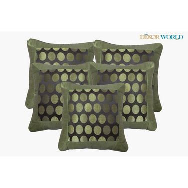Set of 5 Dekor World Design Cushion Cover-DWCC-12-020-5