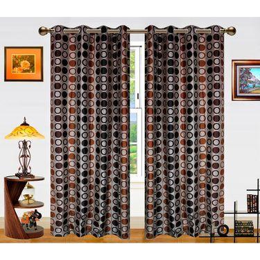 Dekor World Circle Bonanza Window Curtain- Set Of 2 -DWCT-460-5