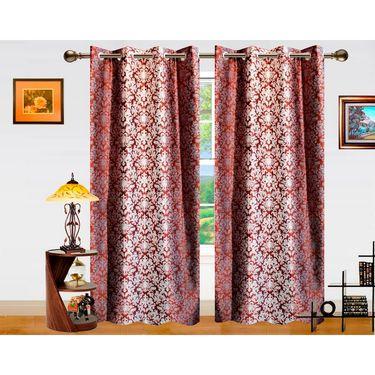 Dekor World Ombre Damask Window Curtain-Set of 2 -DWCT-764-5