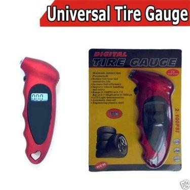 Tyre Tire Pressure Gauge Digital LCD Display with LED lighting effect PSI & Bar