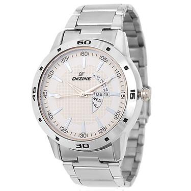 Combo of Dezine Wrist Watch + Aviator Sunglass_CMB94-WHT-BLU