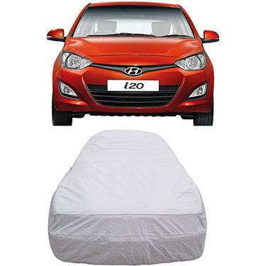 Digitru Car Body Cover for Hyundai i20 - Silver