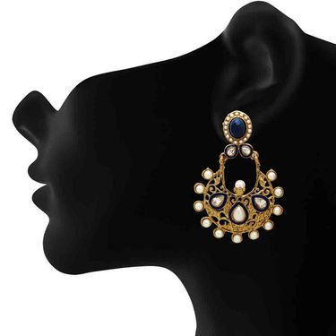 Branded Gold Plated Artificial Earrings_Er30035gblu