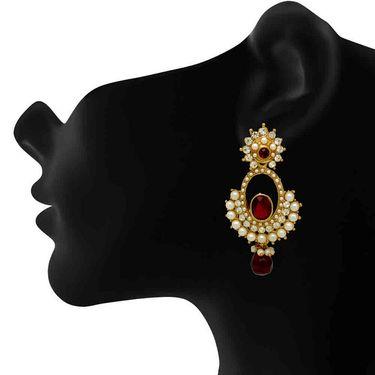 Branded Gold Plated Artificial Earrings_Er30040gred