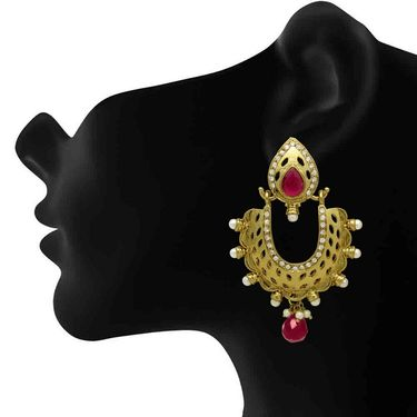 Branded Gold Plated Artificial Earrings_Er30045gpin