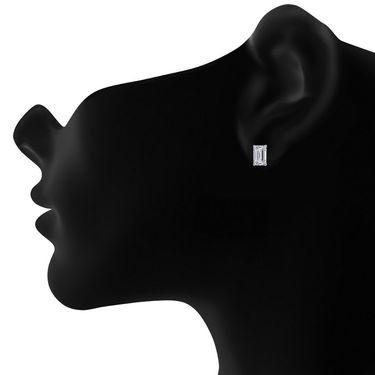 Mahi Rhodium Plated Artificial Earrings_Er3102004whi