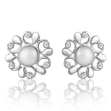 Mahi Rhodium Plated Artificial Earrings_Er3191007s