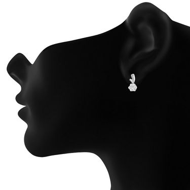 Mahi 92.5 Sterling Silver Artificial Earrings_Er3191012s