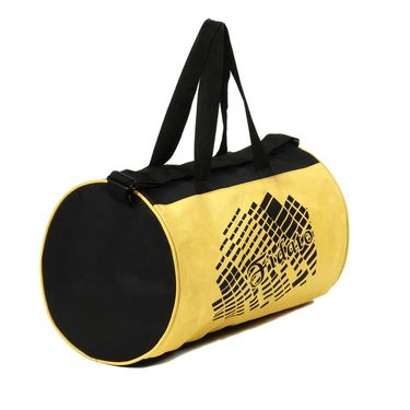 Fidato 2 Wheel Duffle & Gym Bag Combo With Fidato Mens Black Analog Watch - FD-224