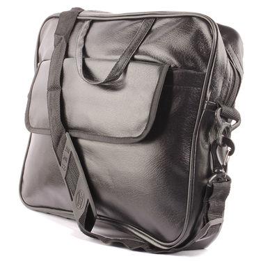 Fidato Laptop Bag + Fidato Men's Dual Time watch + Fidato Black Leather Wallet