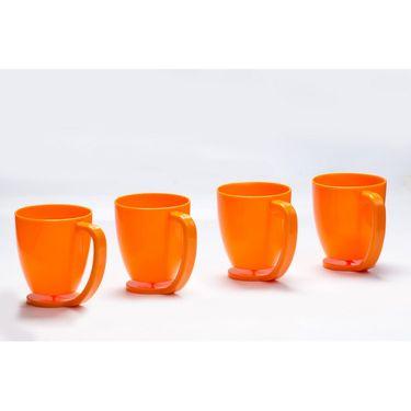 Kitchen Duniya Set of 4 Floating Mugs-Candy Orange