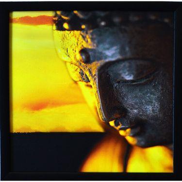 eCraftIndia Meditating Buddha Design Satin Matt Texture Framed UV Art Print-FPGK739