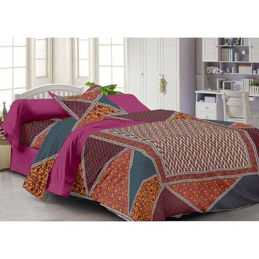 Storyathome 100% Cotton Single Bedsheet with 1 Pillow Cover-FY1104