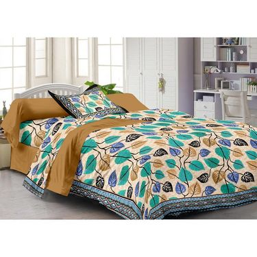 Storyathome 100% Cotton Single Bedsheet with 1 Pillow Cover-FY1112