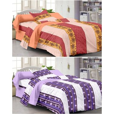 Set of 2 Single Bedsheet With 2 Pillow Cover -1220-FY1223