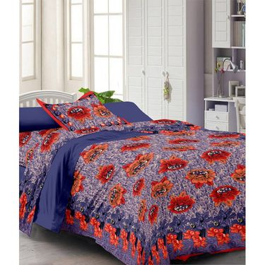 Set of 2 Single Bedsheet with 2 Pillow Cover-1221-1111