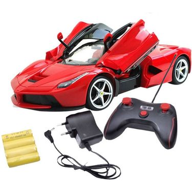 1:16 Scale Rechargeable RC Ferrari Style Car With Fully Function Doors - Red