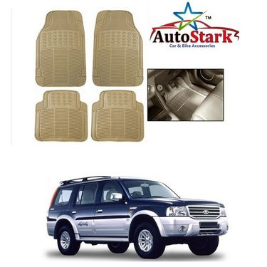 AutoStark - Premium Quality Beige Rubber Car Foot Mat For - Ford Endeavour