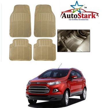 AutoStark - Premium Quality Beige Rubber Car Foot Mat For - Ford Ecosport