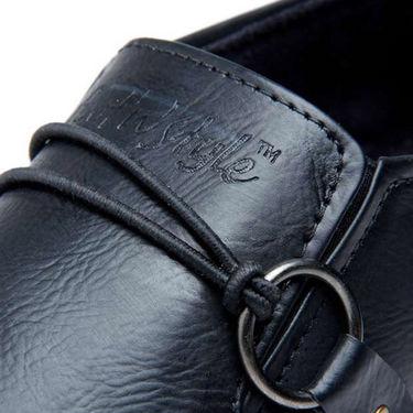 Foot n Style Stylish Slip on Shoes - Black-4936
