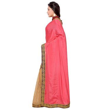 Indian Women Satin Chiffon Printed Saree -GA20113
