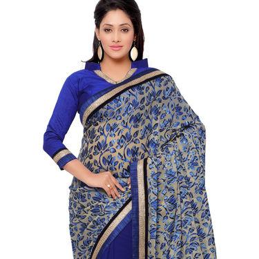 Indian Women Brasso Printed Saree -GA20117