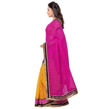 Indian Women Georgette Jacquard Printed Saree -GA20118