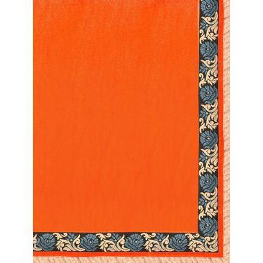 Indian Women Crepe Jacquard Printed Saree -GA20131