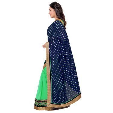 Indian Women Satin Chiffon Printed Saree -GA20133