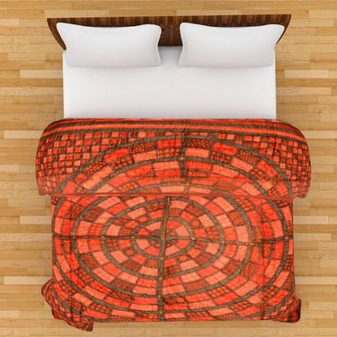 GRJ India Designer Printed Double Bed Quilt-GRJ-DQ-132