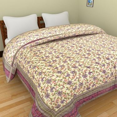 GRJ India Designer Printed Double AC Bed Quilt-GRJ-DQ-135