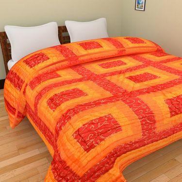 GRJ India Designer Printed Single Bed Quilt-GRJ-SQ-154