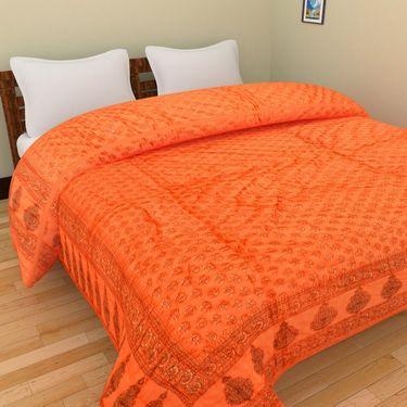GRJ India Designer Printed Single AC Bed Quilt-GRJ-SQ-157