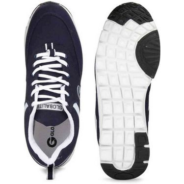 Globalite Synthetic Sports Shoes GSC0275 -Navy White