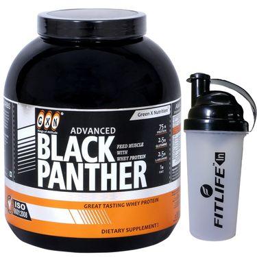 GXN Advance Black Panther 7 Lb (3.17kgs) Vanilla Flavor + Free Protein Shaker