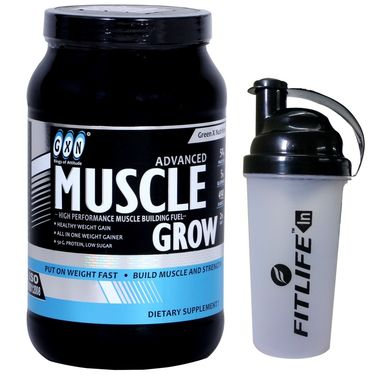 GXN Advance Muscle Grow 2 Lb (907grms) Banana Flavor + Free Protein Shaker