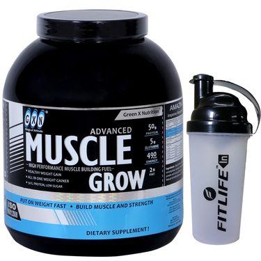 GXN Advance Muscle Grow 4 Lb (1.81kg) Butterscotch Flavor  + Free Protein Shaker
