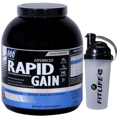 GXN Advance Rapid Gain 6 Lb (2.27kgs) Banana Flavor + Free Protein Shaker