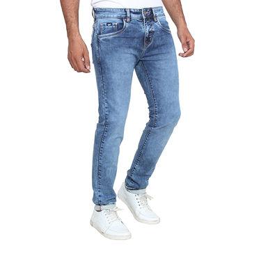 Branded Washed Slim Fit Stretchable Jeans For Men_Gb - Blue