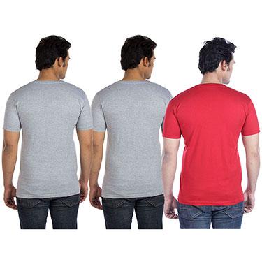Buy Pack Of 3 Go Untucked Plain V Neck Half Sleeves T