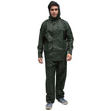 AutoStark Bike-Scooter Water Proof Rain Suit with Hood-Green-42 Size