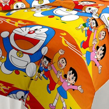 eCraftIndia Doraemon Kids Single Bed Reversible AC Blanket-HFBD120