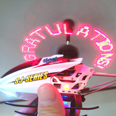 Amazing 3.5 Ch LED Text Message Flashing RC Helicopter