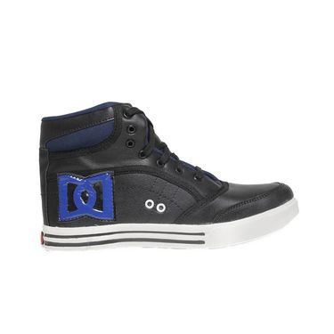 Faux Leather Black Casual Shoes -bn20