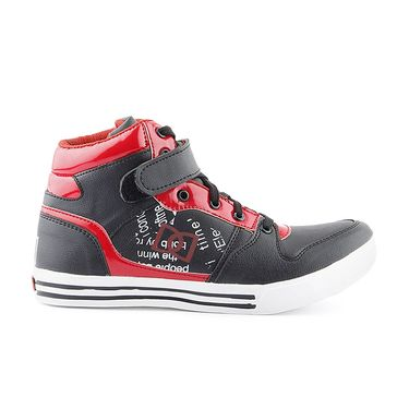 Faux Leather Red Casual Shoes -bn34
