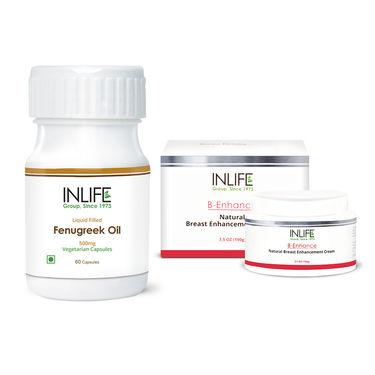 INLIFE Breast Care Combo Of Cream & Fenugreek Seed Oil Caps
