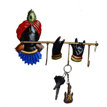 eCraftIndia Wrought Iron Lord Krishna Key Holder-ILKKH100