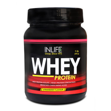 INLIFE Whey Protein 1Lb (454g) Strawberry Flavour