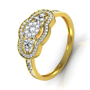 Avsar Real Gold & Swarovski Stone Kinjal Ring_I031yb