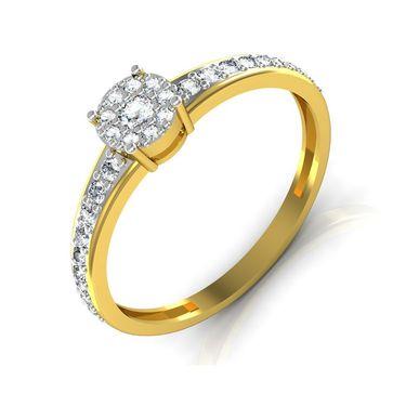 Avsar Real Gold & Swarovski Stone Ranchi Ring_I042yb